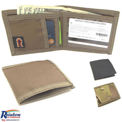 Made in USA Rainbow of California Bifold Compact Mens Wallet Water Resistant
