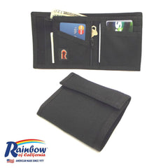 Made in USA Rainbow of California Bifold W/ Zipper Mens Wallet Water Resistant