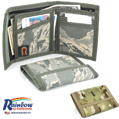 Made in USA Rainbow of California Camouflage Mens Unisex Wallet Water Resistant