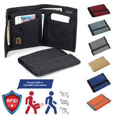 Made in USA Rainbow of California ID Trifold RFID-Blocking Panel Mens Wallet
