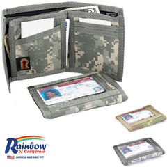 Made in USA Rainbow of California Mens Camouflage ID Wallet Water Resistant