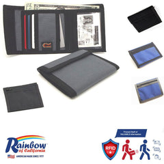Made in USA Rainbow of California RFID Blocking Panel Men Wallet Water Resistant