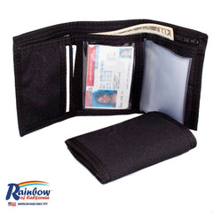 Made in USA Rainbow of California Trifold Wallet Mens w/Zipper Water Resistant