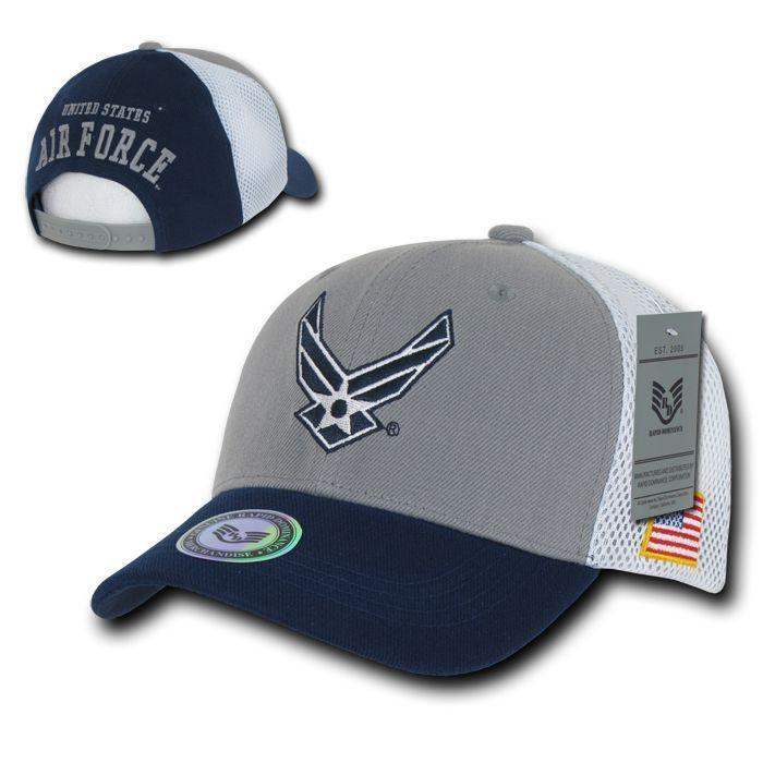 Military Air Force Army Cg Marines Navy Patriotic USA Flag Cotton Mesh Hats Caps