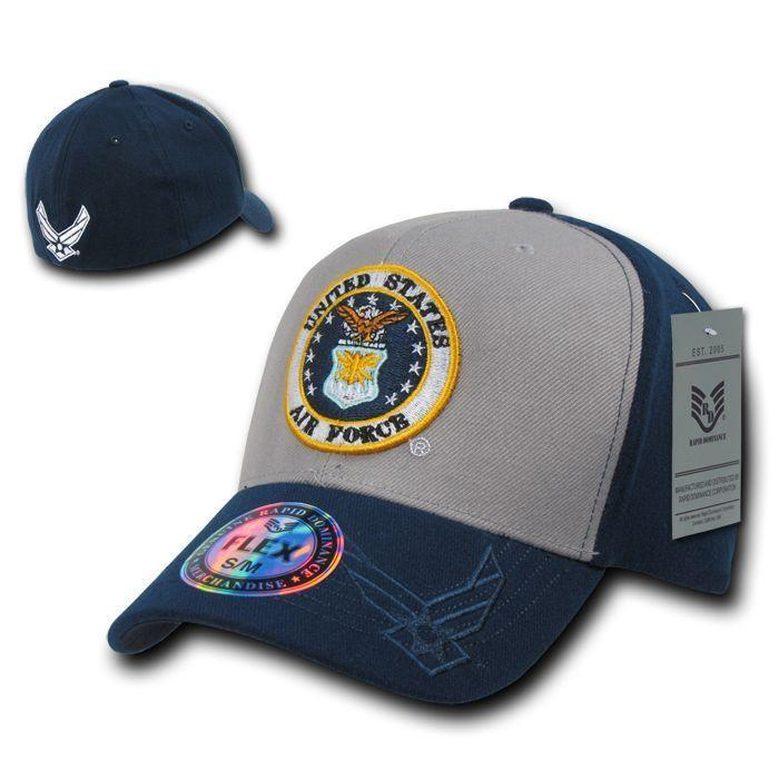 Rapid Dominance Military Air Force Marines Navy Army Coast Guard Flex Baseball Hats Caps