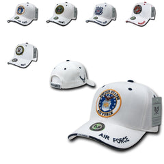 Military Air Force Marines Navy Army Coast Guard Sandwich Ball Hats Caps