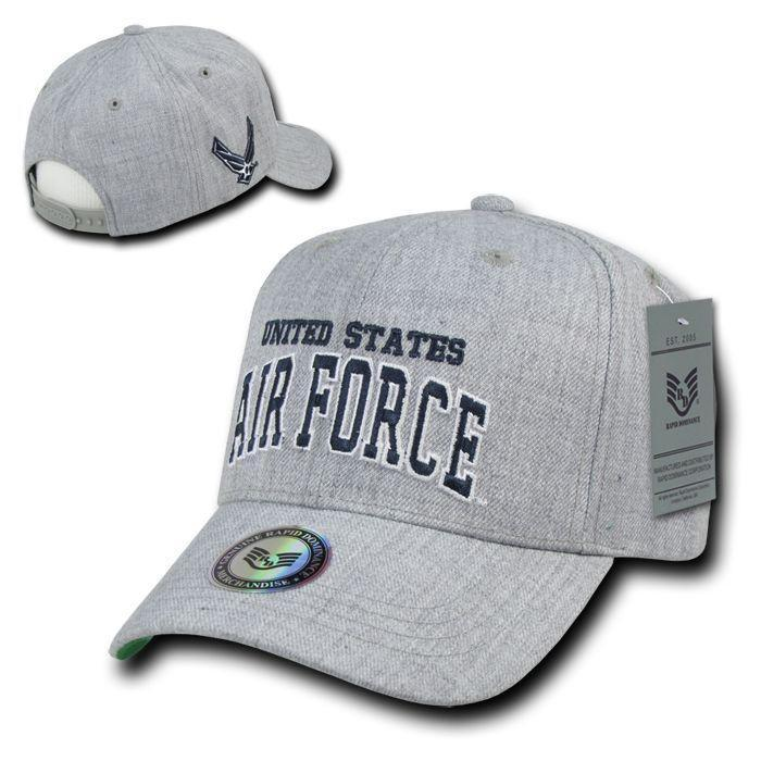 Rapid Dominance Military Air Force Navy Coast Guard Army Marines Grey Baseball Hats Caps