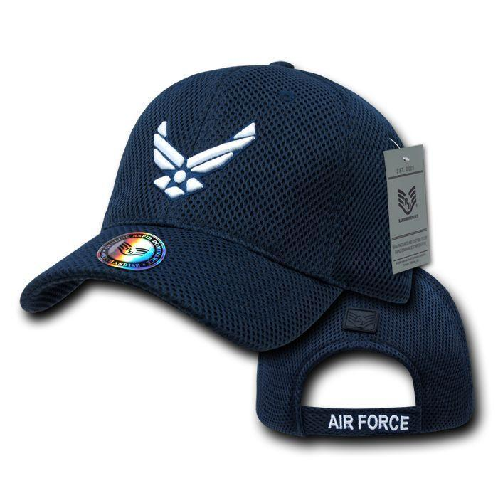 Military Army Air Force Navy Marines Coast Guard Mesh Baseball Hats Caps