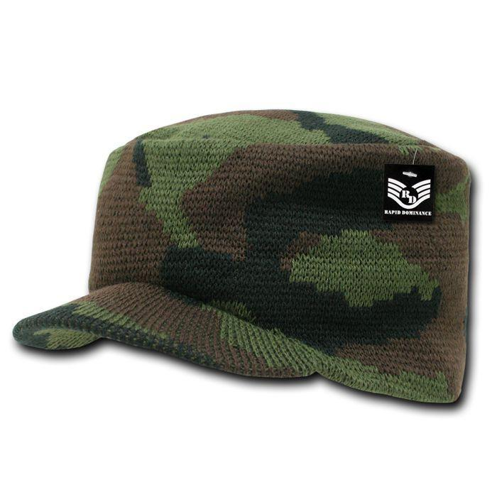 Rapid Dominance Military Camouflage Flat Top Beanies Gi Jeep Knit Watch Caps Hats