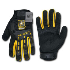 Military US Army Molded Knuckle Mechanics Work Gloves