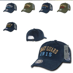 Military Vintage Washed Cotton Polo Distressed Baseball Dad Hats Caps