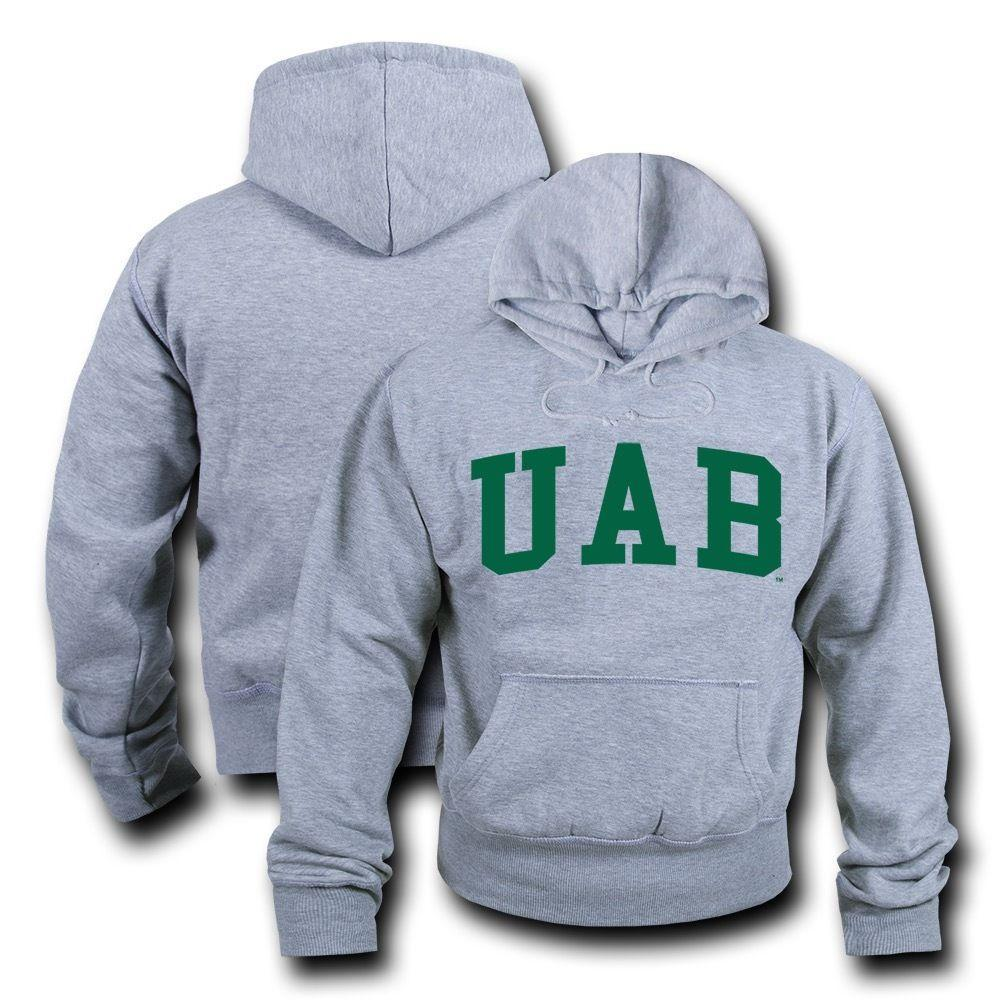 NCAA Alabama At Birmingham University Sweatshirt Game Day Fleece Heather Grey