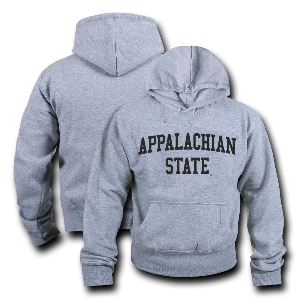 NCAA Appalachian State University Hoodie Sweatshirt Game Day Fleece Heather Grey