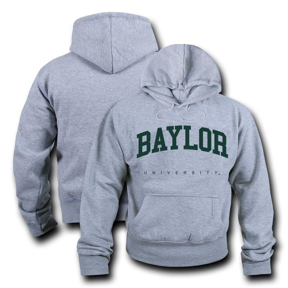 NCAA Baylor University Hoodie Sweatshirt Game Day Fleece Pullover Heather Grey