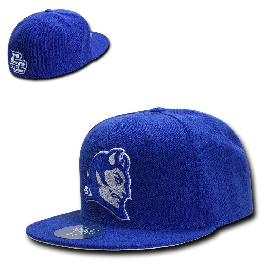 NCAA Central Connecticut Blue Devils University Fitted Caps Hats Blue
