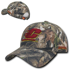 NCAA Cmu Central Michigan Chippewas University Relaxed Hybricam Camo Caps Hats