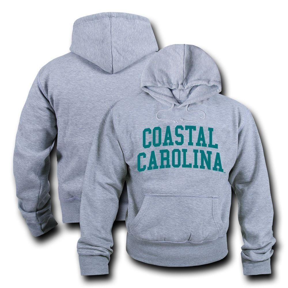 NCAA Coastal Carolina University Hoodie Sweatshirt Game Day Fleece Heather Grey