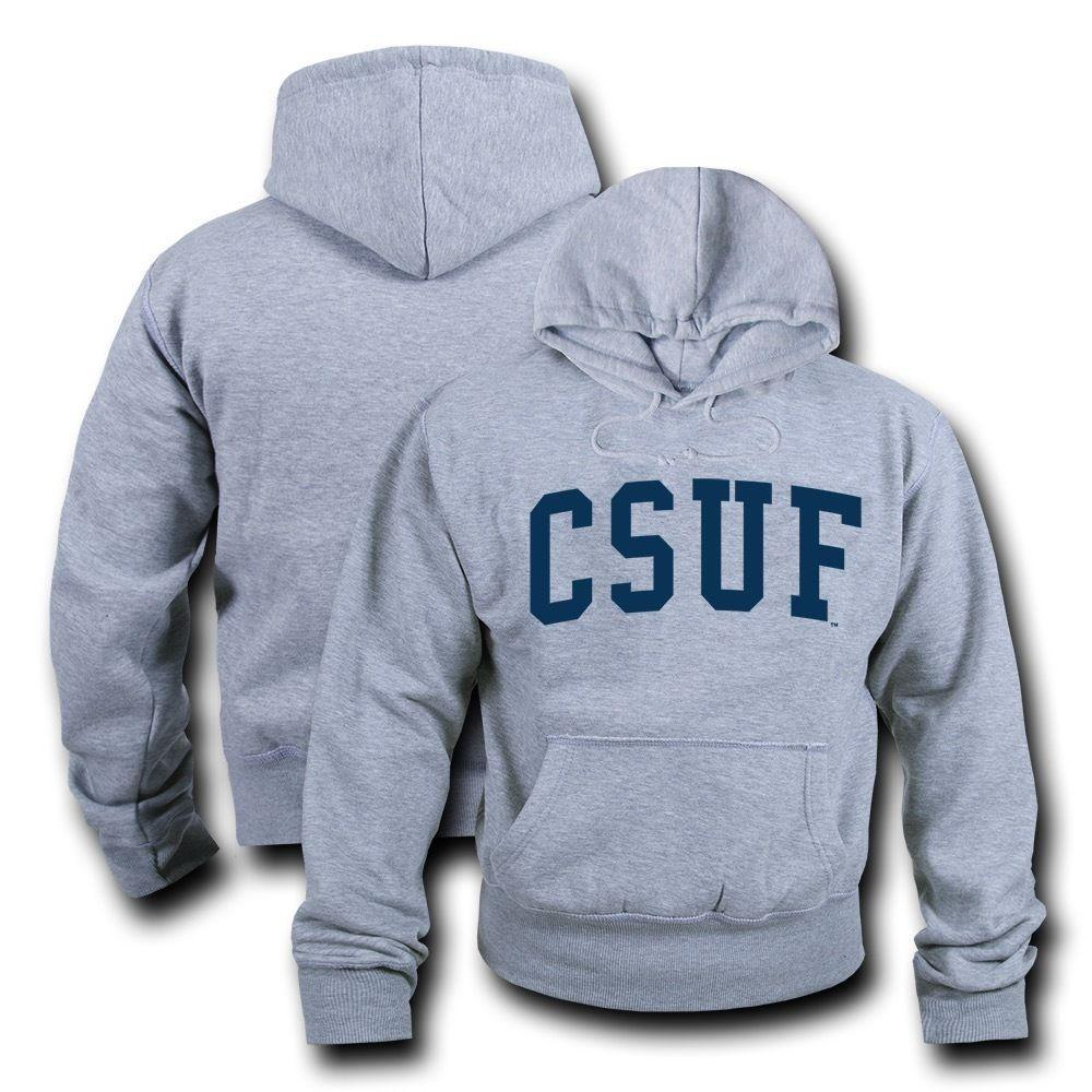 NCAA Csuf Fullerton Cal State Hoodie Sweatshirt Game Day Fleece Heather Grey
