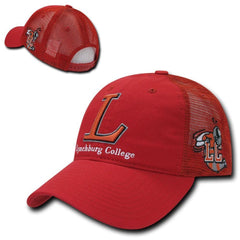 NCAA Lynchburg College Curved Bill Relaxed Trucker Mesh Caps Hats Red