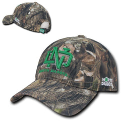 NCAA Ndu North Dakota University Relaxed Hybricam Camouflage Camo Caps Hats