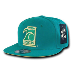 NCAA Uncw University Of North Carolina Wilmington College Fitted Caps Hats Teal