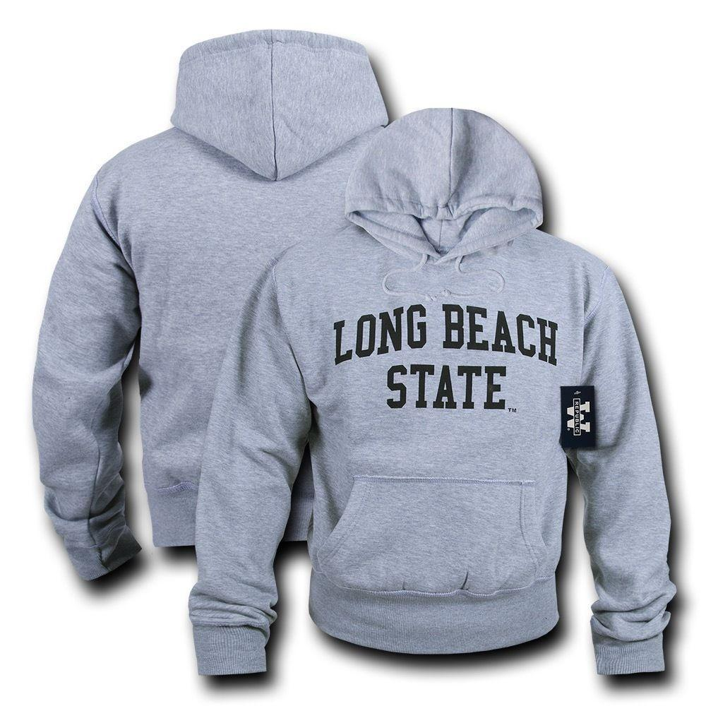 NCAAc Cslb - Cal Long Beach State Hoodie Sweatshirt Game Day Fleece Heather Grey