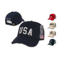 Patriotic USA Flag 1776 America Vintage Feel Distressed Baseball Dad Caps Hats