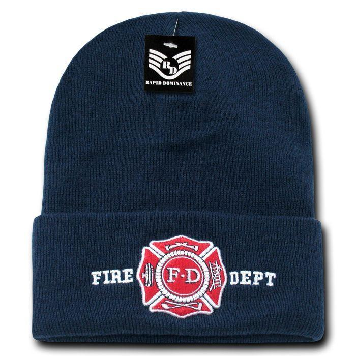 Rapid Dominance Police Fire Dept Security Sheriff Border Patrol Long Cuffed Warm Winter Beanies