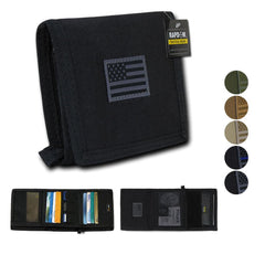 RAPDOM Men's Tri-Fold Wallet Tactical Non Stick Id Window 18 Compartment/Pocket