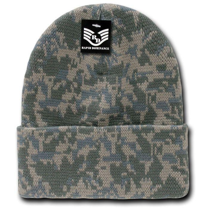a2e600efa86 Rapid Dominance Military Camouflage Cuffed Beanies Knit Winter Watch Caps  Hats