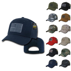 Rapdom USA American Flag Tbl Trl Tactical Operator Cotton Baseball Hats Caps