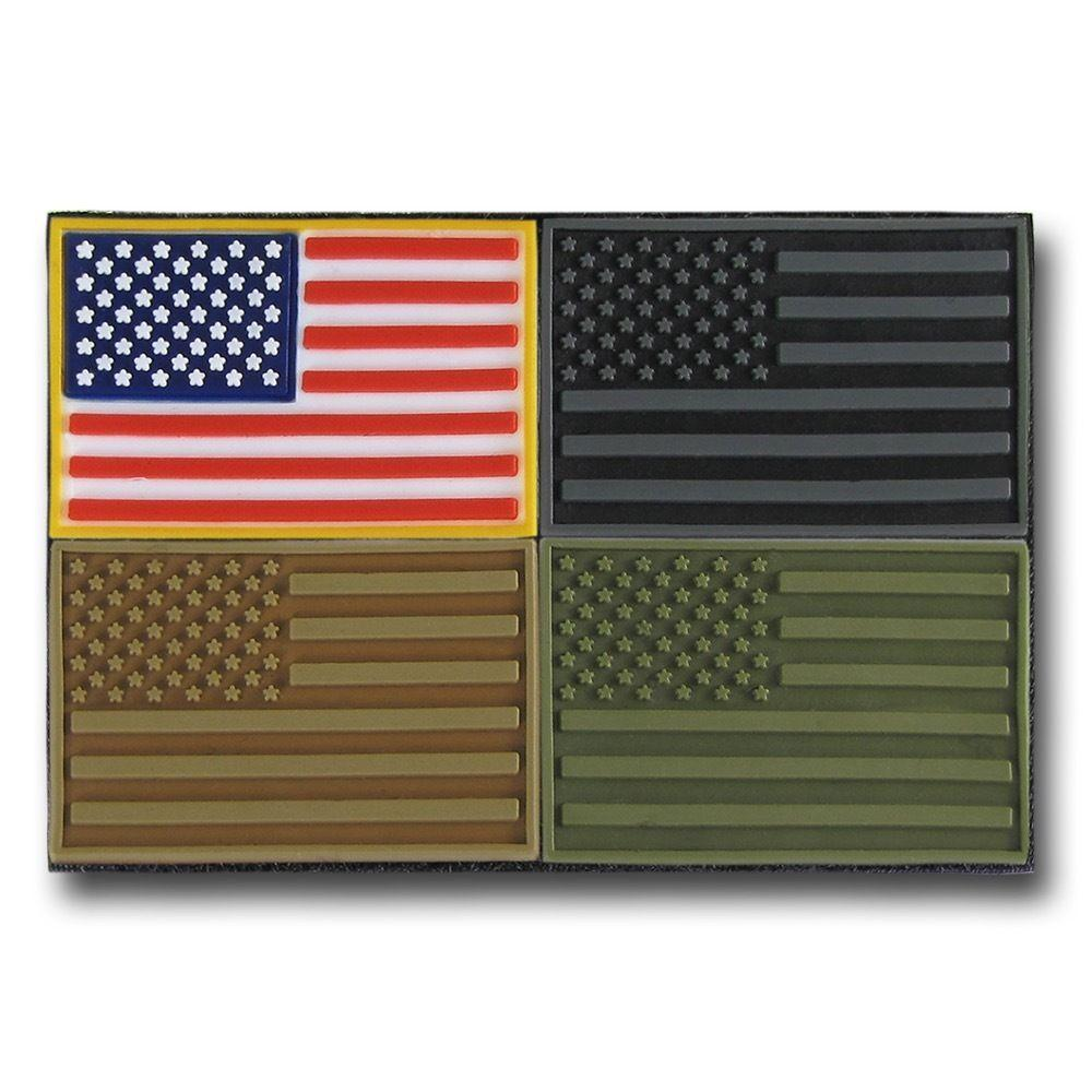 RAPDOM USA Flag Tactical Mini Rubber H&L Hook & Loop-Back Patch