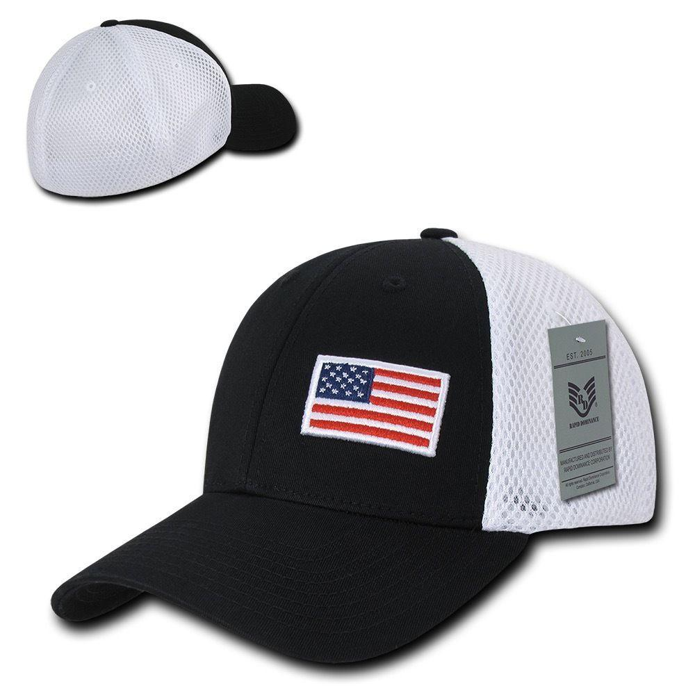 Rapid Aero Foam Flex USA Flag Military Mesh Baseball Cotton Caps Hats