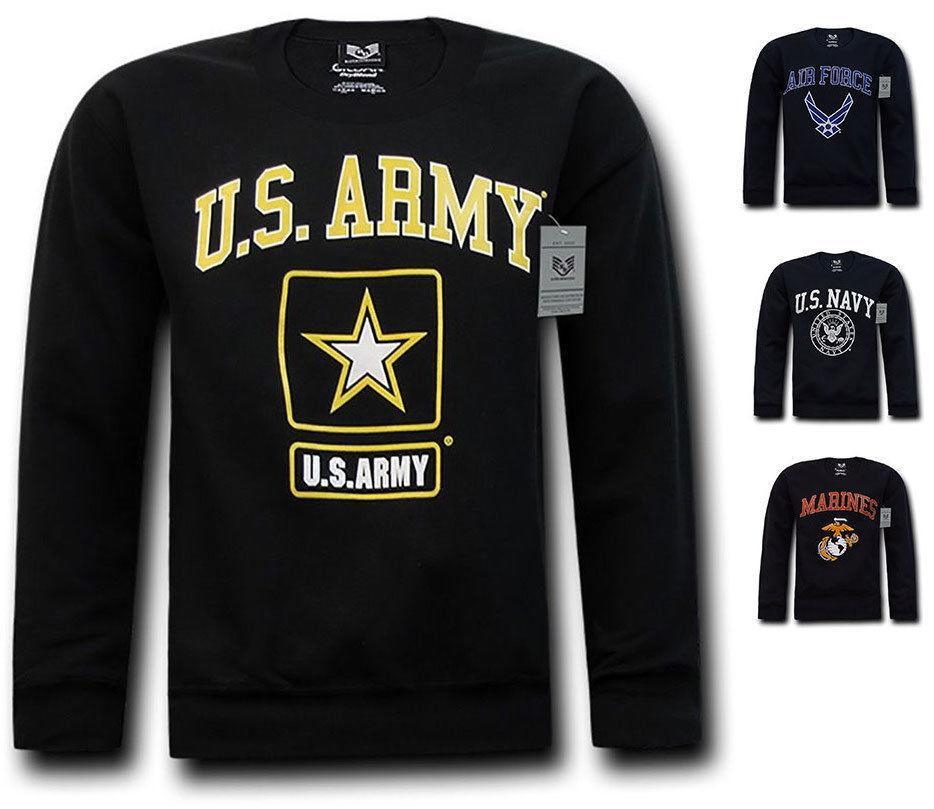 Rapid Dominance Crewneck Sweatshirt Pullover Long Sleeve Military Navy T-Shirts Tees!!