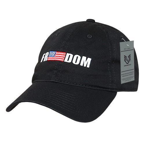 Rapid Dominance Freedom Relaxed Patriotic USA Flag Baseball Caps Hats