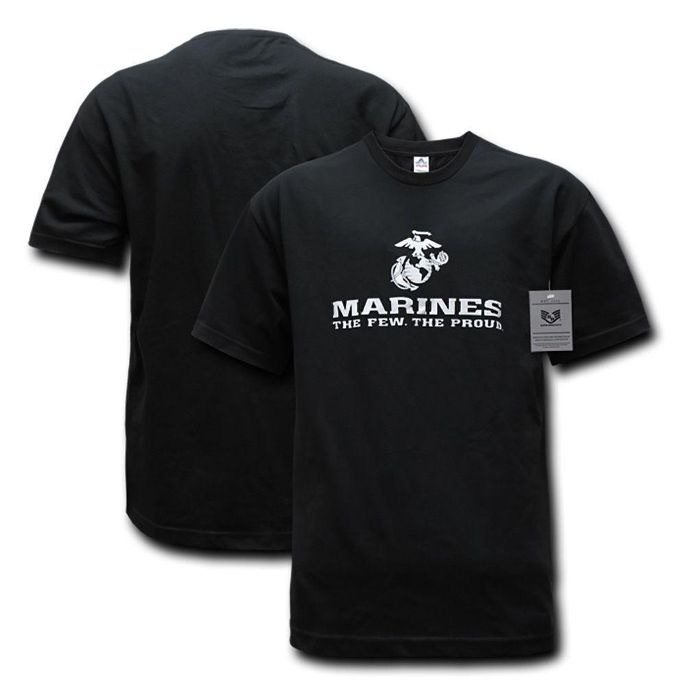 Rapid Dominance Marine Proud Patriotic Military Cotton Graphics T-Shirts Tees