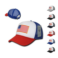 Rapid Dominance Patriotic USA Flag Classic Foam Mesh Trucker Caps Hats