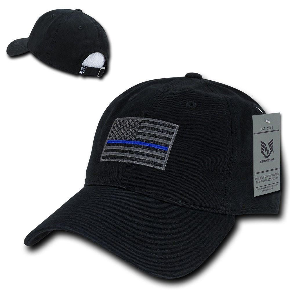Rapid Dominance Cotton Polo Police Thin Blue Line US Flag Baseball Dad Caps Hats