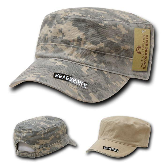 Rapid Dominance Reversible Flattop Cadet Military Patrol Cotton Camouflage Caps Hats
