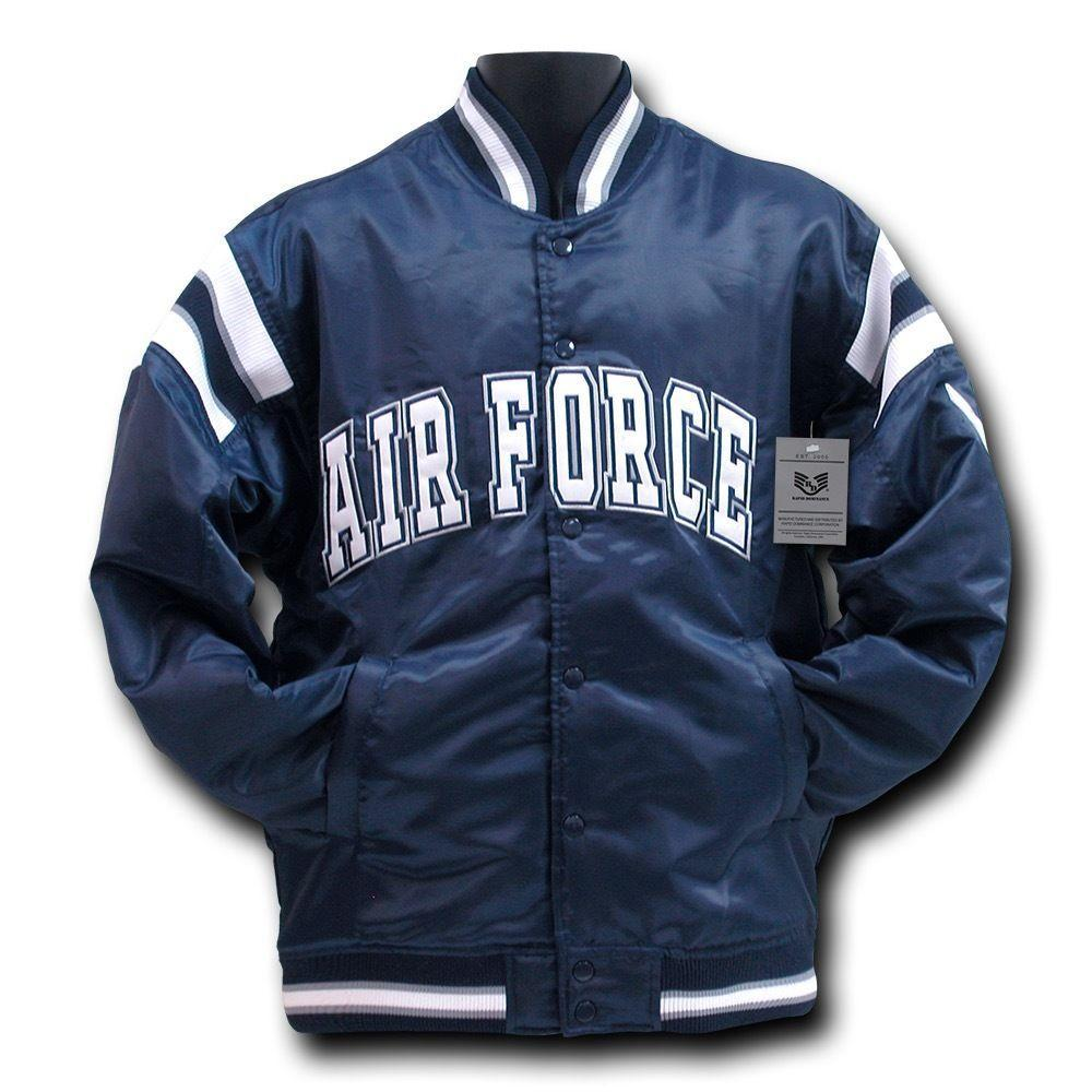 Rapid Dominance Satin Military Coach`S Jacket Hoodie Navy Air Force Army Marines