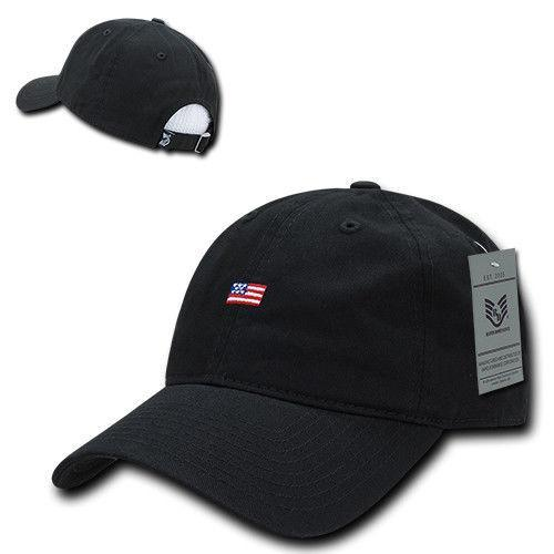 Rapid Dominance Cotton Polo USA American Flag Small Stamp Baseball Dad Caps Hats