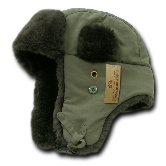 Rapid Dominance Winter Trapper Trooper Faux Fur Flap Caps Hats Aviator Bomber Hunting