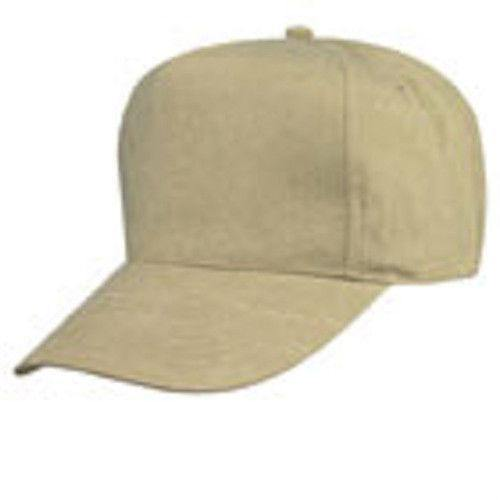 100% Cotton Canvas Stone Washed Pigment Dyed 5 Panel Baseball Caps Hats Khaki
