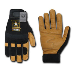 US Army Leather Mechanics Work Tactical Gloves