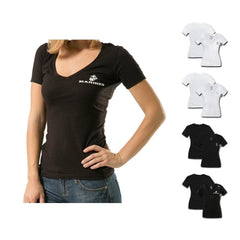 US Navy Army Marines Air Force Logos Military V- Neck Womens Soft T-Shirt Tees
