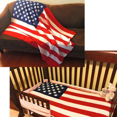 USA American Flag Patriotic Throw Soft Fleece Blanket 50X60 Bedding Decor Gift