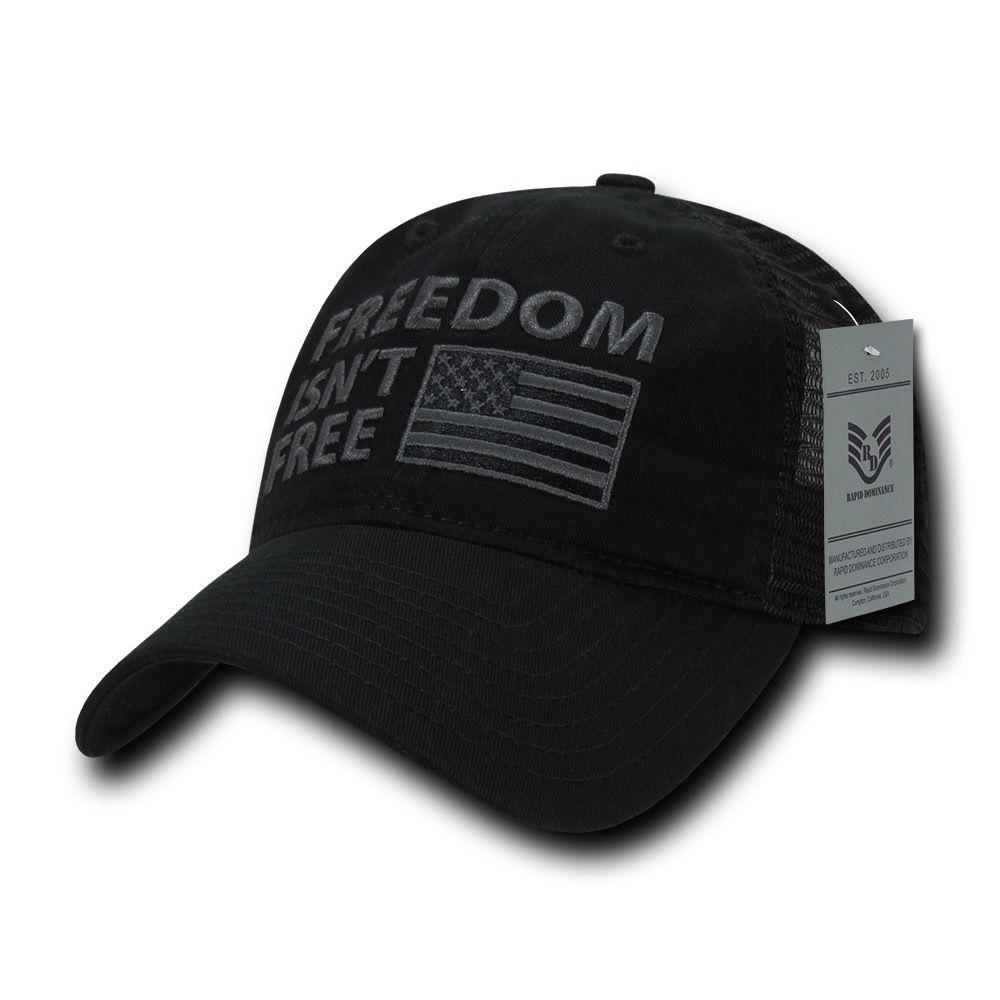 USA Flag Freedom United Patriotic Military Relaxed Fit Trucker Baseball Cap Hats
