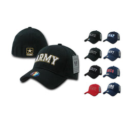 Rapid Dominance USA Military Law Enforcement Flexfit Fitted Embroidered Baseball Dad Caps Hats