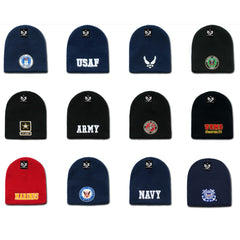 Rapid Dominance Military Logos Short Beanies Knit Cap Hats Winter