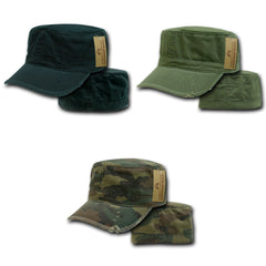 Vintage Bdu Fatigue Distressed Cadet Patrol Military Army Fitted Caps Hats